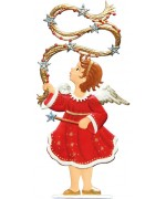 Angel Twirling Garland' Anno 1998 Christmas Pewter Wilhelm Schweizer