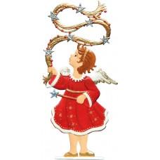 Angel Twirling Garland' Anno 1998 Christmas Pewter Wilhelm Schweizer