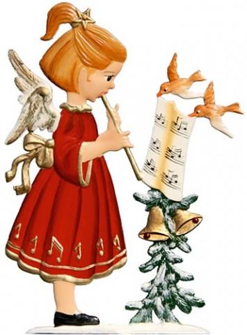 Angel Playing Flute Anno 2001 Christmas Pewter Wilhelm Schweizer