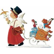 Angel Postman Anno 2004 Christmas Pewter Wilhelm Schweizer