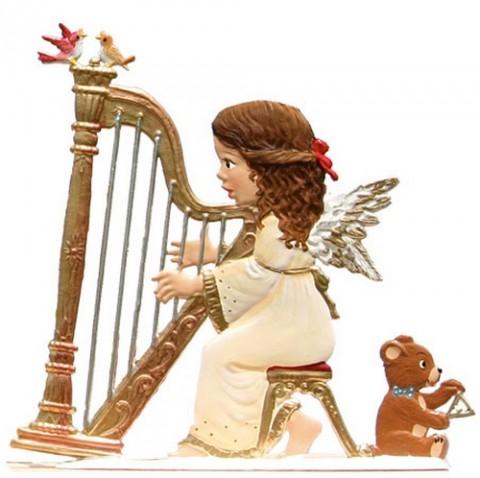 Angel Playing Harp Anno 2005 Christmas Pewter Wilhelm Schweiz