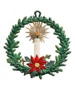 Wreath with Candle - Christmas Pewter Wilhelm Schweizer - TEMPORARILY OUT OF STOCK