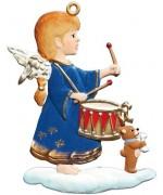 Angel Drummer Christmas Pewter Wilhelm Schweizer