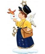 Angel Postman Christmas Pewter Wilhelm Schweizer