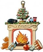 Fireplace Christmas Pewter Wilhelm Schweizer - TEMPORARILY OUT OF STOCK
