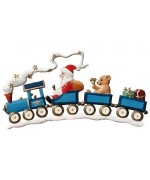 Santa on Train Christmas Pewter Wilhelm Schweizer