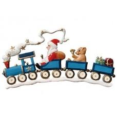Santa on Train Christmas Pewter Wilhelm Schweizer