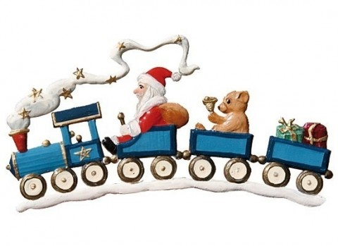TEMPORARILY OUT OF STOCK - Santa on Train Christmas Pewter Wilhelm Schweizer