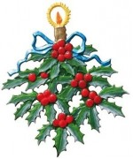 Holly Branch Christmas Pewter Wilhelm Schweizer - TEMPORARILY OUT OF STOCK