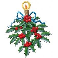 Holly Branch Christmas Pewter Wilhelm Schweizer