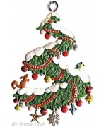 Snowy Tree Christmas Pewter Wilhelm Schweizer