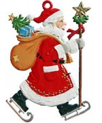 TEMPORARILY OUT OF STOCK - Santa Skating Christmas Pewter Wilhelm Schweizer