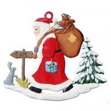 Santa Walking Christmas Pewter Wilhelm Schweizer - TEMPORARILY OUT OF STOCK