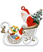 Nikolaus im Schlitten Christmas Pewter Wilhelm Schweizer