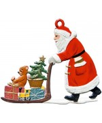 Nikolaus schiebt Schlitten Christmas Pewter Wilhelm Schweizer - TEMPORARILY OUT OF STOCK