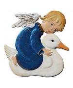Engel mit Ente Christmas Pewter Wilhelm Schweizer