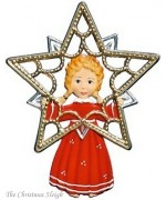 Angel with Filigree Star Christmas Pewter Wilhelm Schweizer