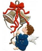 Angel with Bells Christmas Pewter Wilhelm Schweizer