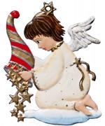Angel Pouring Stars Christmas Pewter Wilhelm Schweizer