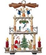 Weihnachtspyramide mit Nikolaus Christmas Pewter Wilhelm Schweizer