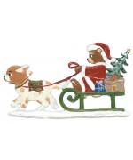 Teddy Hundeschlitten Christmas Pewter Wilhelm Schweizer