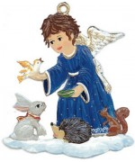 TEMPORARILY OUT OF STOCK - Angel with Animals Christmas Pewter Wilhelm Schweizer