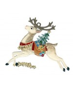 TEMPORARILY OUT OF STOCK - Reindeer Christmas Pewter Wilhelm Schweizer