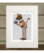 Fox in Boater FabFunky Book Print