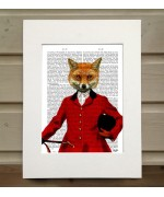 Fox Hunter Portrait FabFunky Book Print