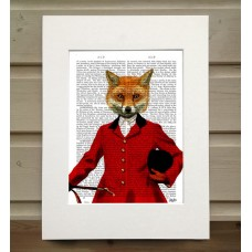 Fox Hunter Portrait FabFunky Book Print