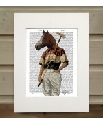 Polo Horse FabFunky Book Print - TEMPORARILY OUT OF STOCK