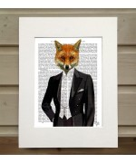 Fox in Evening Suit FabFunky Book Print