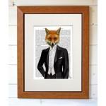 Fox in Evening Suit FabFunky Book Print