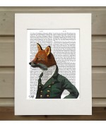 Dandy Fox Portrait FabFunky Book Print