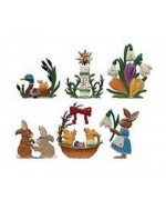 Easter Miniatures 6 Piece Set Wilhelm Schweizer - TEMPORARILY OUT OF STOCK