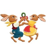 Wilhem Schweizer 2010 Easter Oster Pewter Bunnies Dancing