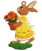 Bunny with Flower Pot Easter Oster Pewter Wilhelm Schweizer