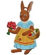 Wilhelm Schweizer Easter Oster Pewter Flower Bunny Market Bunny