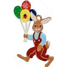 Wilhelm Schweizer Easter Oster Pewter Hase mit Luftballon