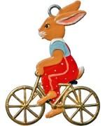 Wilhelm Schweizer Easter Oster Pewter Bunny on Bike