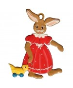 Wilhelm Schweizer Easter Oster Pewter Bunny Girl