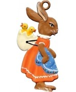 Wilhelm Schweizer Easter Oster Pewter Mamma Bunny with Baby