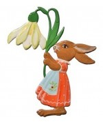 Wilhelm Schweizer Easter Oster Pewter Easter Bunny with Lilly
