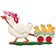 Wilhelm Schweizer Easter Oster Pewter Family Duck