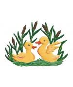 Wilhelm Schweizer Easter Oster Pewter Baby Ducks