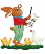 Wilhelm Schweizer Easter Oster Pewter Bunny Choir