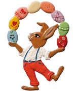 Wilhelm Schweizer Easter  Oster Pewter Bunny Juggling