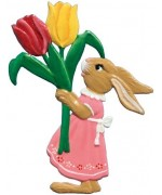 Wilhelm Schweizer Easter Oster Pewter Bunny with Flowers