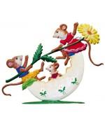 Mice playing on Egg Shell Wilhelm Schweizer