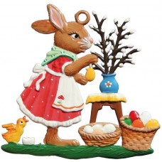 Wilhelm Schweizer Easter Oster Pewter Bunny with Easter Tree
